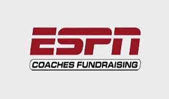 A logo of ESPN Coaches Fundraising