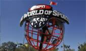 The ESPN Wide World of Sports globe sculpture