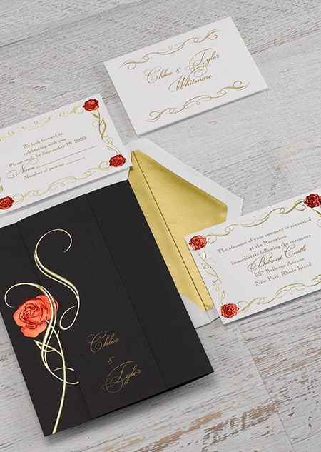 Belle Magic Spell Invitations
