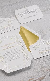 cinderella enchanted invitations - Cinderella Wedding Invitations
