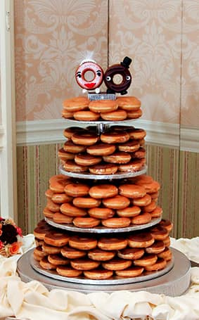 Wedding cake wednesday donut tower disney weddings the matching personalized donut topper of course korri categories wedding cake wednesday junglespirit Gallery
