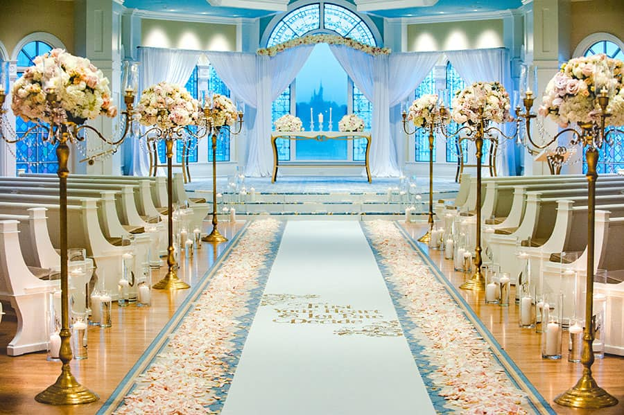 One Pavilion Three Looks Glamour Disney Weddings Disney Weddings