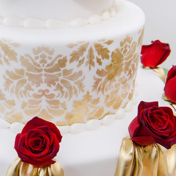 Wedding Cake Wednesday Beauty And The Beast Roses