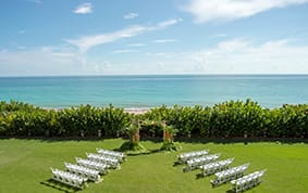 Outdoors Indoors With Wedding Reception Decor Such As Nautical Lantern Centerpieces Hints Of Blue Waves And Even A Starfish Or Two