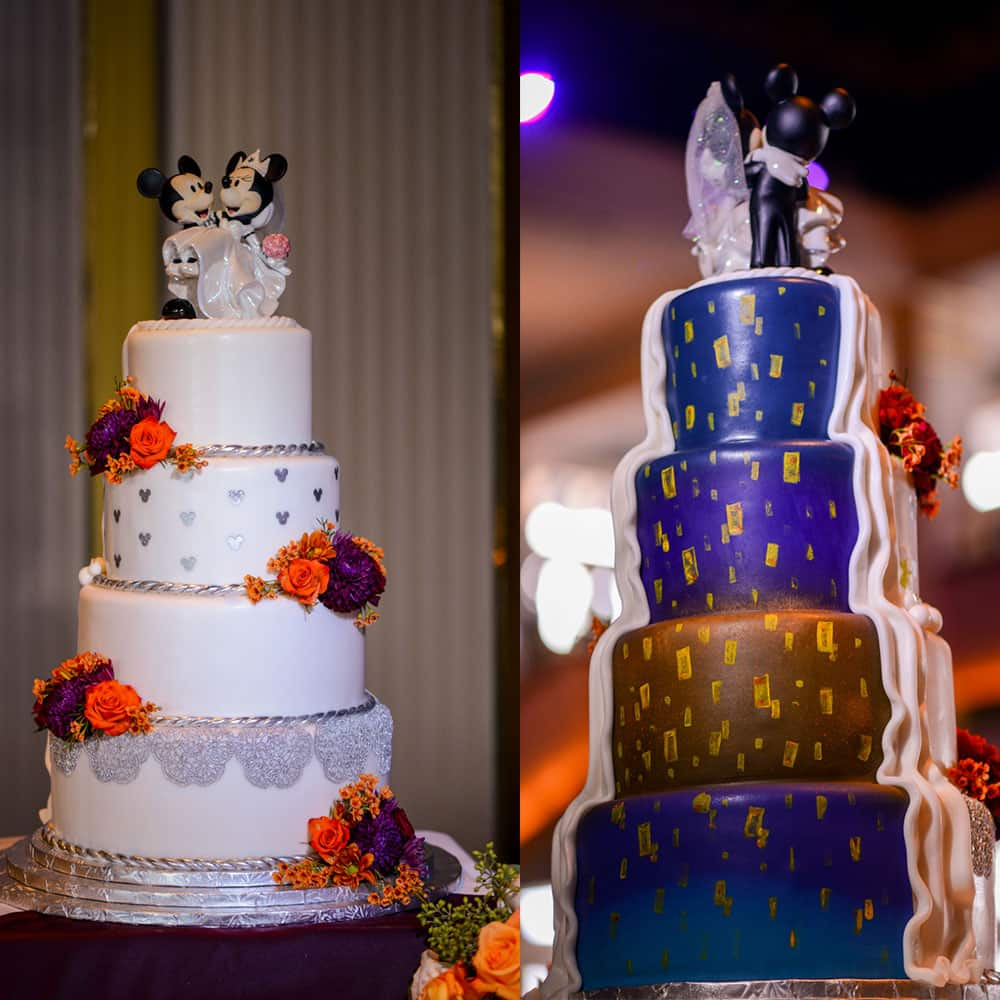 wedding cake wednesday half and half cakes disney weddings. Black Bedroom Furniture Sets. Home Design Ideas