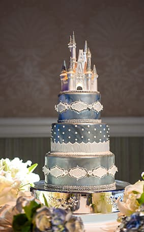 Princess Themed Wedding Cake