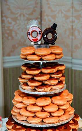 Wedding Cake Wednesday Donut Tower