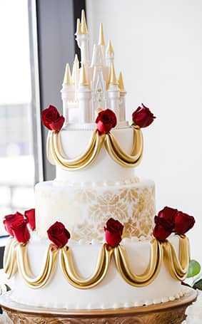 disney beauty and the beast wedding cake toppers wedding cake wednesday and the beast roses 13542