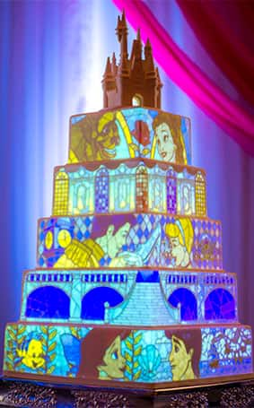 Wedding Cake Wednesday Creating Cake Mapping Projections Disney