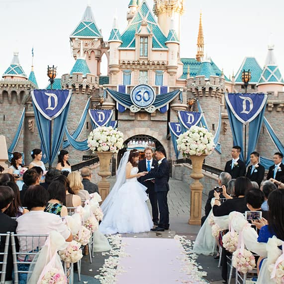 Disneyland Castle Wedding Spotlight: Christina & Kevin