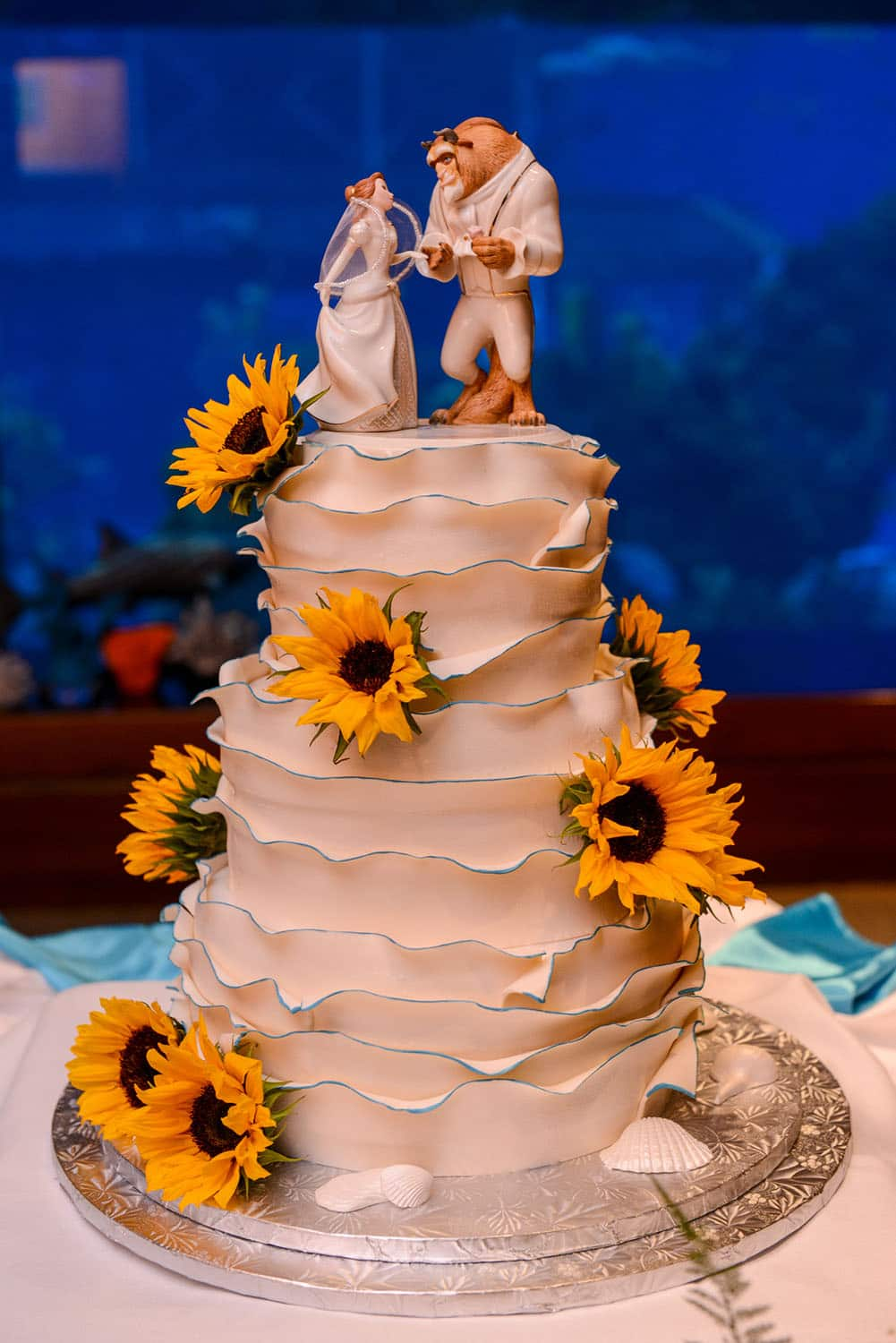 Wedding Cake Wednesday Beauty and the Beast Sunflowers Disney