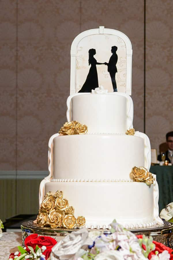 Wedding Cake Wednesday Half and Half Cakes Disney Weddings
