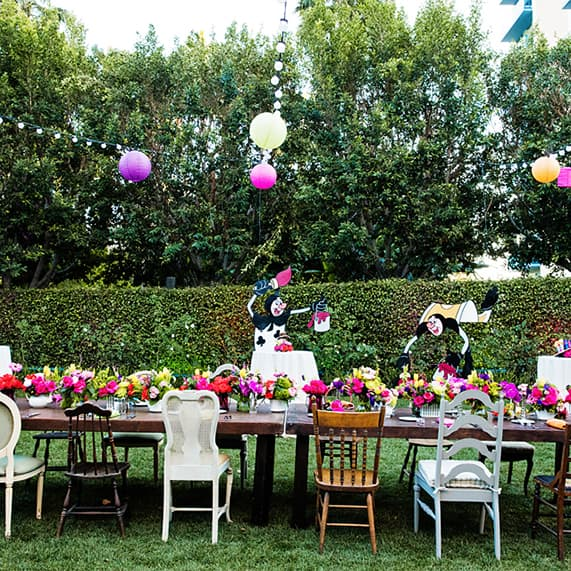 Decor: Alice In Wonderland Inspired Vow Renewal