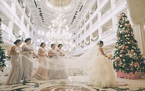 From The Picturesque Ballroom At Disney S Grand Floridian Resort To Delectable White Chocolate Castle Cake Topper Erica Ozzie Wedding Was A Day