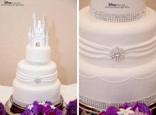 Wedding Cake Wednesday White Bling Disney Weddings