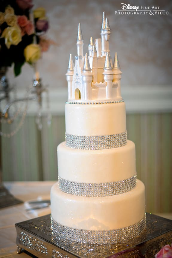 Wedding Cake Wednesday White Bling Cake Disney Weddings