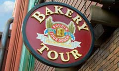 Sign for The Bakery Tour, hosted by Boudin Bakery