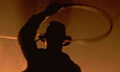 Silhouette of Indiana Jones With Whip