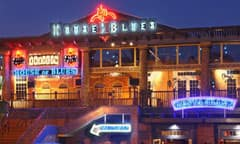 House of Blues Lit Up at Night