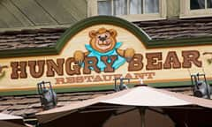 Sign for Hungry Bear Restaurant