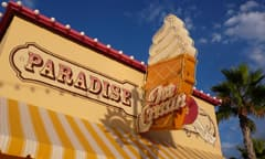 Paradise Pier Ice Cream Co. Neon Sign