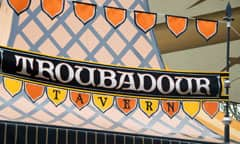 Sign for Troubadour Tavern