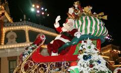 Santa Atop His Sleigh in
