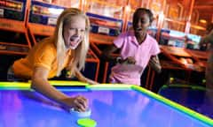 Guests Playing Games at ESPN Zone Anaheim