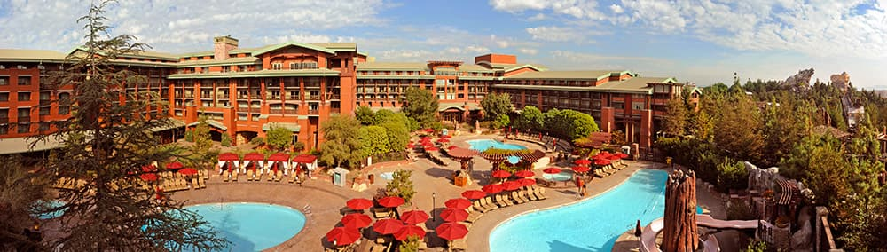 The pool area at Disney's Grand Californian Hotel & Spa in Anaheim, California