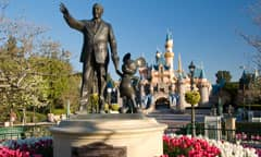 Partners Sculpture of Walt Disney Holding Hands with Mickey Mouse