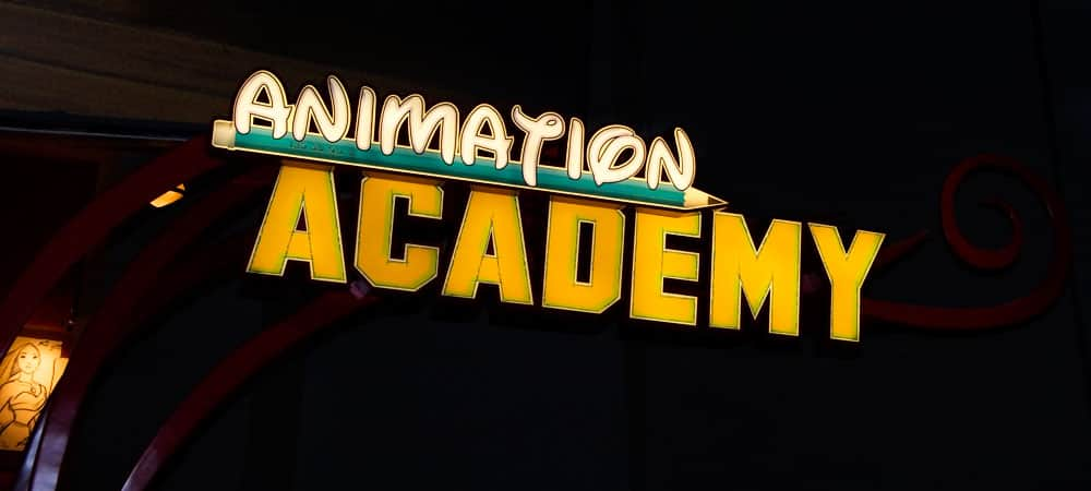 Animation Academy Sign