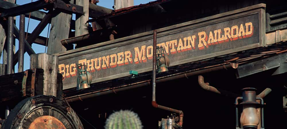 Big Thunder Mountain Railroad Sign