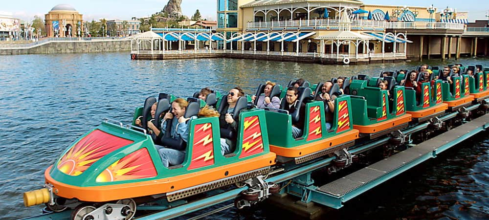 Guests on California Screamin' Roller Coaster
