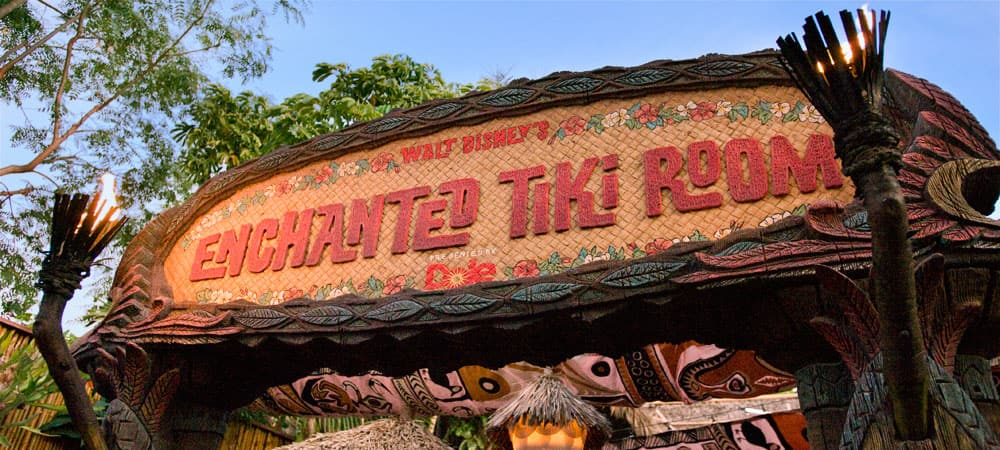 Enchanted Tiki Room Sign