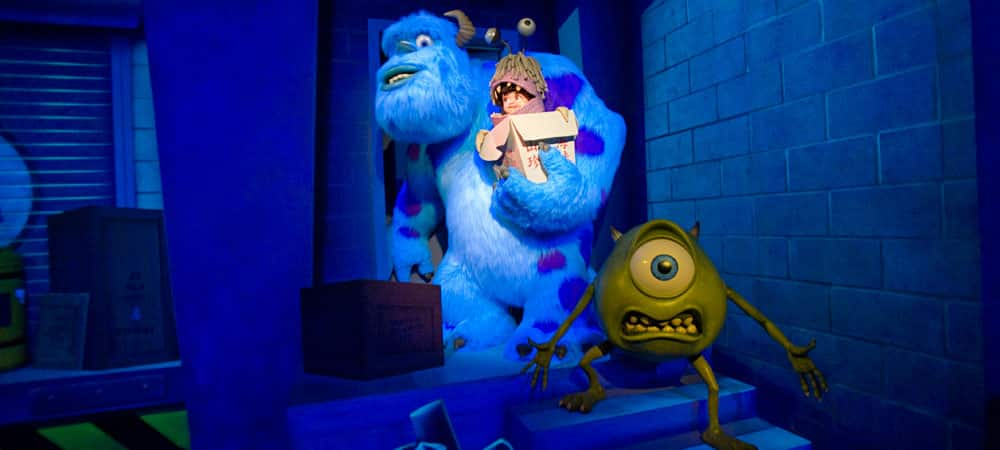 Sulley, Mike and Boo from Monsters, Inc.
