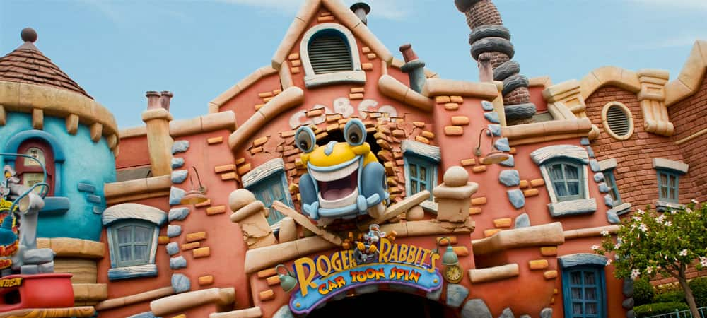 Sign for Roger Rabbit's Car Toon Spin