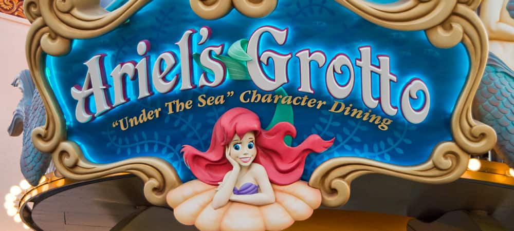 Ariel's Grotto Sign