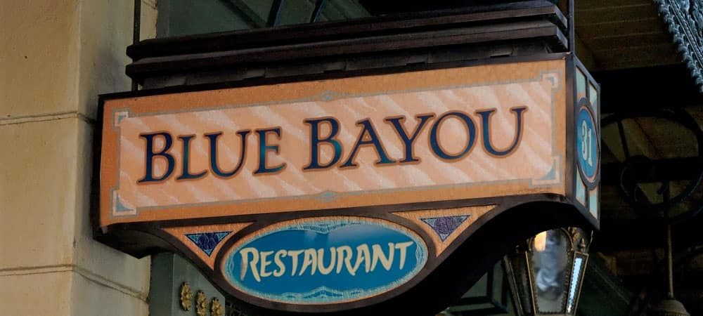 Blue Bayou Restaurant Sign