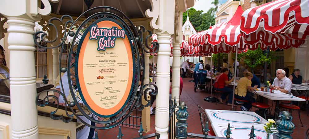 Outdoor Dining at Carnation Cafe