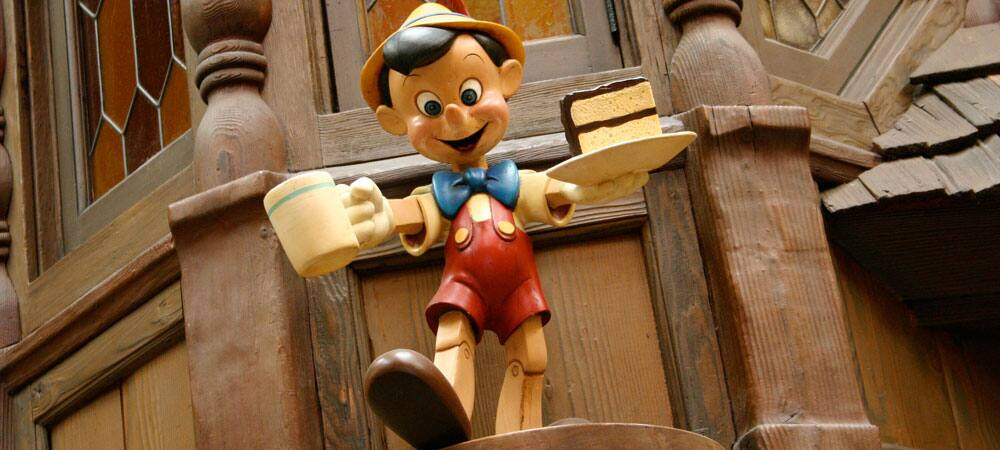 Detail of Pinocchio at the Village Haus Restaurant, Hosted by Minute Maid