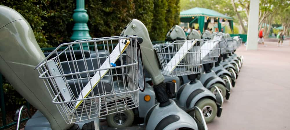 Services amenities disneyland resort for Motorized scooter rental disneyland