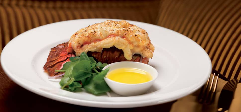 A lobster tail.