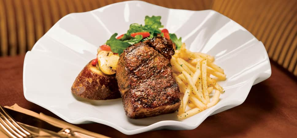 Steak and pomme frites.
