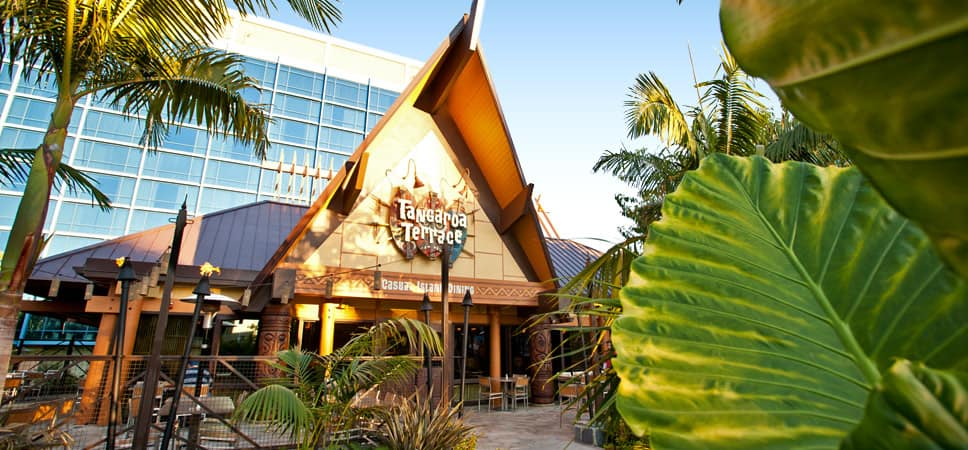 Entrance to Tangaroa Terrace restaurant
