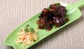Un platillo de cocina estilo polinesio