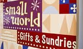 Rótulo: Small World Gifts & Sundries.