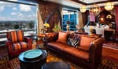 Adventureland Suite living area with panoramic view.