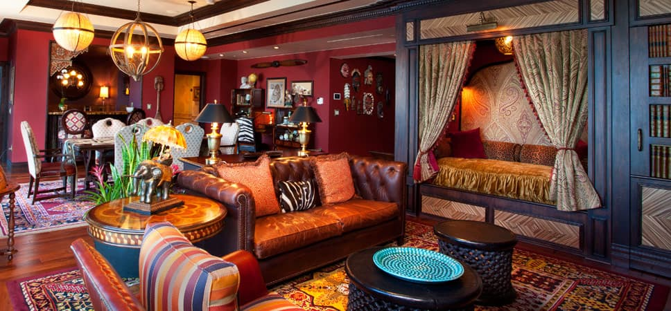 Sala de estar de la suite Adventureland.