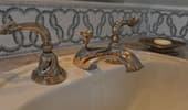 Close up of fancy vanity fixtures.