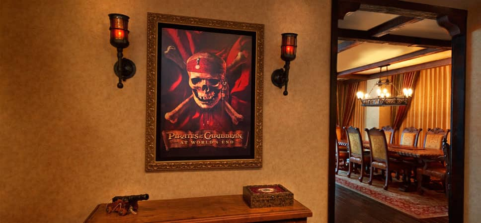 Arte enmarcado de la película de Disney Pirates of the Caribbean: At World's End.